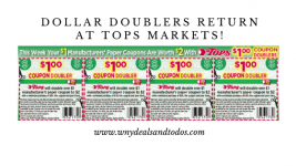Dollar doublers return at tops markets!