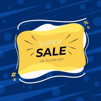 Sale discount banner template design