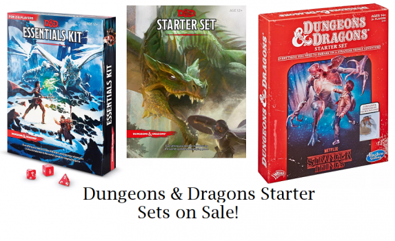 dungeons and dragons starter sets