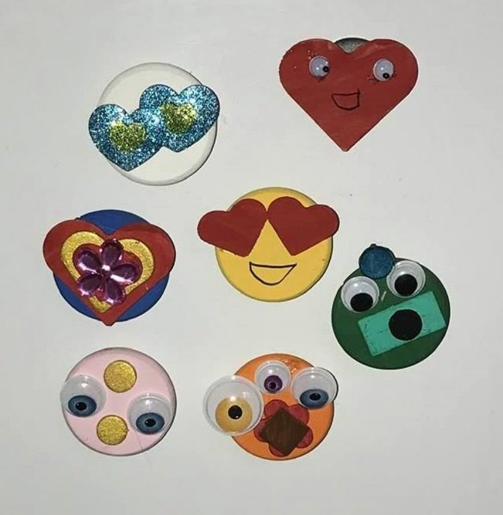 locker magnet pogs for classroom party