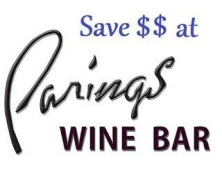 save at pairings wine bar