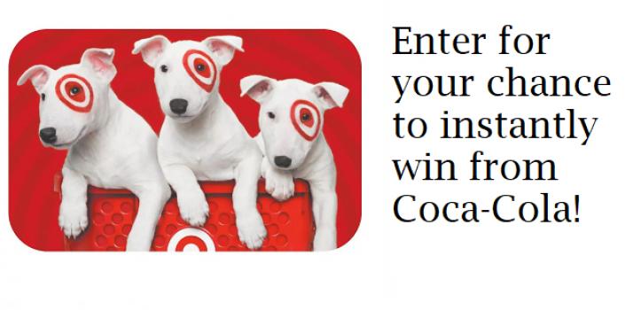 target egiftcard instant win from coca cola