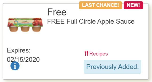 tops free applesauce