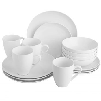 porcelain white 16 piece dishes
