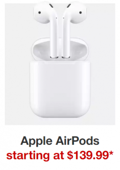 Target deal on Apple airpods