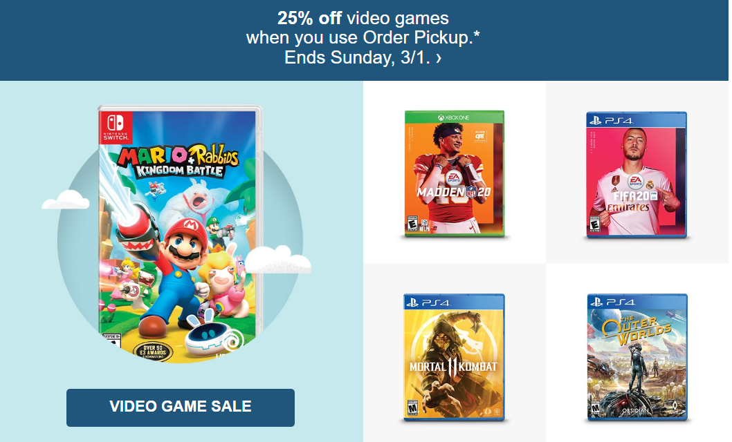 Video Game Sale at Target