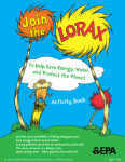 free lorax activity download