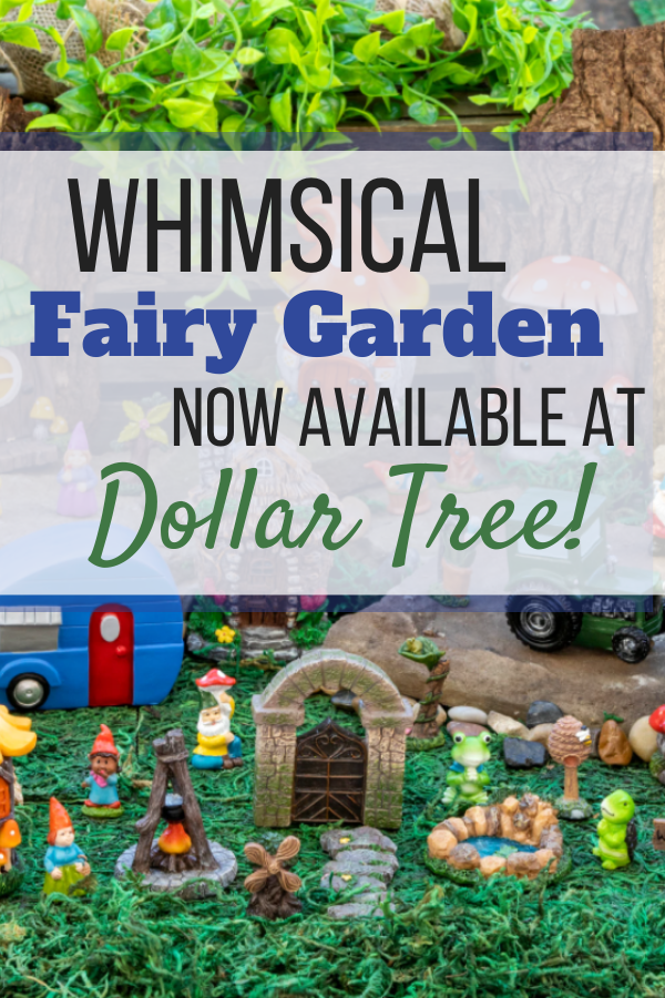 Add some magical fun to your 2021 garden this year with the new Whimsical Fairy Garden available at Dollar Tree!