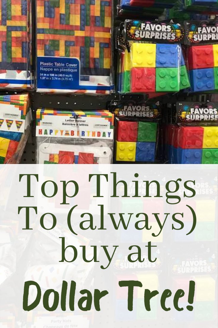 Dollar Tree is one of those stores where you should plan to pop in a few times a month to do some shopping.  With a great selection, you'll save so much money on these top things to always buy at Dollar Tree.