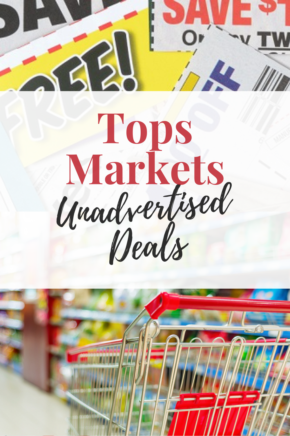 If you are looking for unadvertised coupon deals at Tops Markets, you have come to the right place! Below are what I have found to be unadvertised deals at Tops.