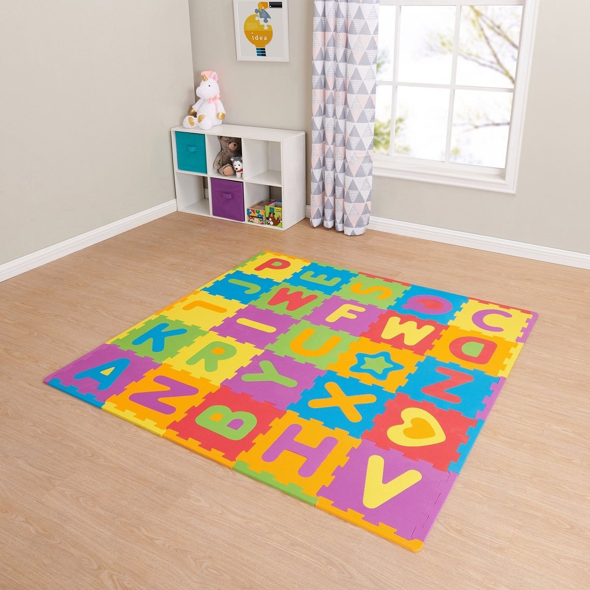Perfect foam mat to set up a child's play area in a family room, basement, or other part of your home.