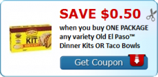 Old El Paso Coupon Savings on Taco Kits or Bowls