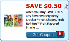 Betty Crocker Fruit Snacks = $2 a box at Tops with coupon