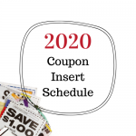 2020 Coupon Insert Schedule