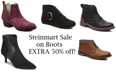 Steinmart Sale on Boots Extra 50% Off (many under $20!)