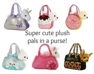 Plush Fancy Pals Purse (unicorns, cats, dogs, ponies)