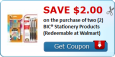 BIC Stationery Products Printable Coupon = great deals