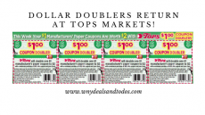 Dollar Doublers Return To Tops Friendly Markets (1/5 – 1/11/20)!