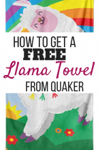 Free Llama Towel From Quaker Chewy Bars