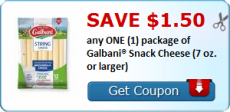 Galbani Snack Cheese Coupon + Tops Deal