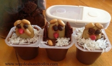 Happy Groundhog's Day Pudding Cups