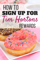 How To Sign Up For Tim Hortons Rewards program