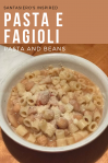 Authentic West Side Pasta e Fagioli Recipe