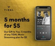 TIDAL Music Streaming 5 Months for $5