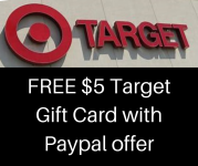 $5 Off Any Paypal Purchase = FREE $5 Target Gift Card (First 70,000 today only!)