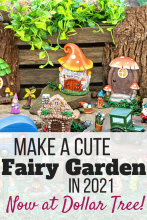 Whimsical Fairy Garden Set available at Dollar Tree