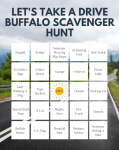 Let's Take A Drive Buffalo Printable Scavenger Hunt Bingo