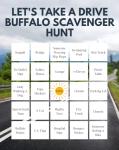 Let's Take A Drive Buffalo Printable Scavenger Hunt Bingo