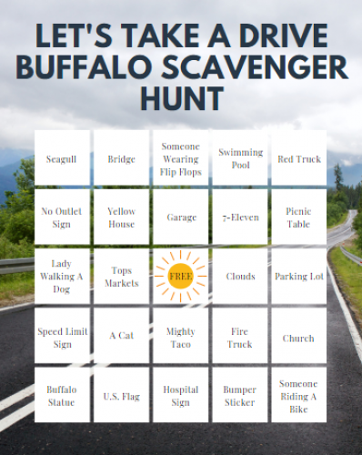 Let S Take A Drive Buffalo Printable Scavenger Hunt Bingo Wny Deals And To Dos