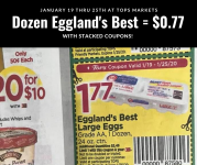 Eggland's Best Eggs = $0.77 at Tops with stacked coupons (starts 1/19)