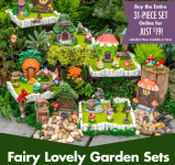 Dollar Tree 31-pc Fairy Garden Set for only $19 w/ FREE in-store pick-up
