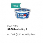 FREE Cool Whip Through Coupons App (Tops shoppers get TWO!)