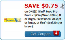Glad Products RARE Printable Coupon = $1.49 at Tops this week