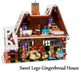 LEGO Gingerbread House with Family and Accessories