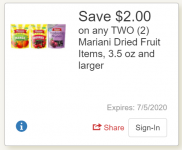 2 FREE Mariani Dried Cranberries at Tops (Digital Coupon Deal)!