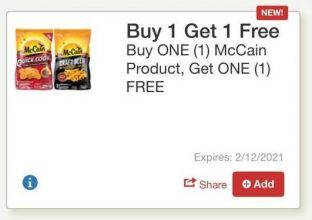 McCain Digital Coupon + Tops Markets Deal