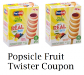 Popsicle Fruit Twister Coupon + Wegmans Deal