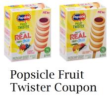 Popsicle Fruit Twister Coupon + Wegmans Deal