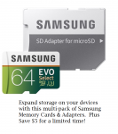 Samsung 64 GB MicroSDXC Memory Cards Deal on Woot!