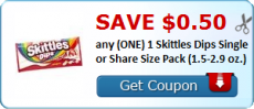 New Skittles Dips Coupon