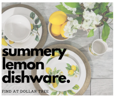 Lemon Dishware Now Available at Dollar Tree
